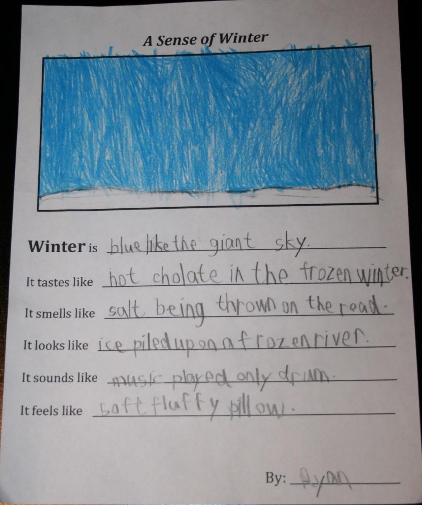 A Sense of Winter Poems « Mr. Jackson\'s Grade Three Class